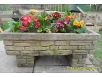 Pair of stone planters with feet!