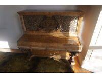 Collard & Collard walnut upright piano