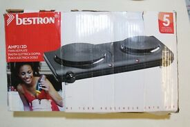 Electric Twin Hob Cooker - Bestron Twin Hotplate AHP212D - MULLED WINE WARMER!