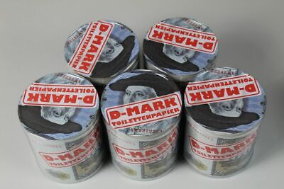 5 Rollen 100 DM Toilettenpapier in PVC Dose - Ges. ca. 120 Mtr -. je ca. 24 Mtr