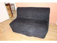 Ikea Lycksele sofa bed - Black
