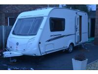 SWIFT COASTLINE 480SE /2 BERTH CARAVAN 2007 WITH FULL AWNING AND A REMOTE MOTOR MOVER