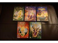 4 x Tinkerbell DVD's + Disney's Tangled DVD