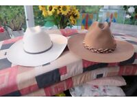 2 BRANDED QUALITY MENS STETSON HATS ATWOOD & BAILEY PLUS TWO LADIES STETSONS