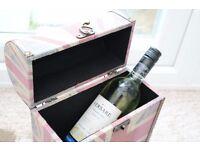 Wine box & bottle of Italian wine