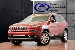2014 Jeep Cherokee Limited 4X4 V6 CUIR TOIT PANO NAV *ON VOUS EN