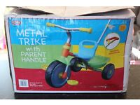 Kid's Tricycle With Parent Handle - Brand New Unused
