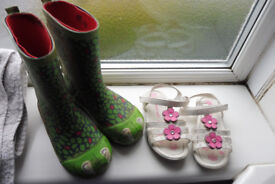 kids/children party shoes and wellington welly boots