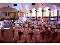 wedding chair covers white satin