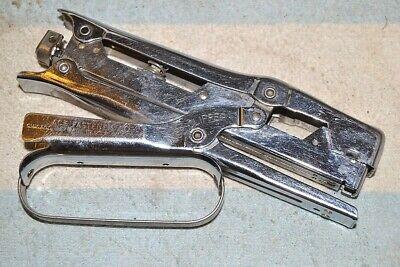 Ace 482 Clipper Hand Pliers Stapler Nice Vintage Chrome