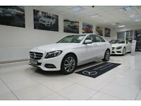 MERCEDES-BENZ C CLASS 2.1 C220 CDI BlueTEC Sport 7G-Tronic Plus 4dr (start/stop) Auto (white) 2014