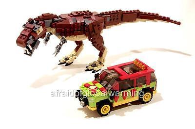Photo.  Toy Lego Big Dinosaur & Small Truck (Dinosaur Photos)