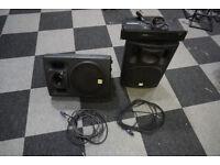 2x PA 202 Passive Loudspeakers + amp