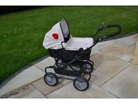 Dolls Pram - Mamas & Papas Graziella with Parasol, Shoulder Bag and Doll Carrier