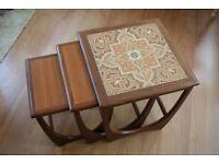 Nest of three delightful coffee tables (G Plan, Teak)