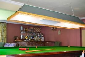 Full size snooker table plus light and score board