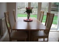 John Lewis 4 solid wood dining chairs