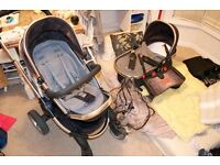 ICANDY PEACH With Carrycot, Toddler Seat, Rain Cover, Buggy Board and Car Seat Adaptors