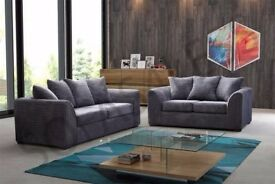 Mink, Brown, Black, Grey And Beige ! Brand New Dylan Extra padded Jumbo cord Corner or 3+2 Sofa Set