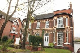 ELEGANT VICTORIAN GROUND FLOOR APARTMENT, LARGE ROOMS, FITTED KITCHEN