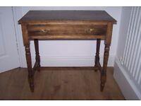 Antique Vintage Writing Table / Desk Smoked Chesnut Writing Desk