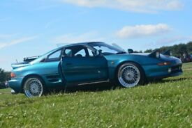 Toyota MR2 MK2 1992 in Turquoise with Alloys and exhaust