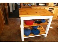 Kitchen Island Breakfast Table. Handmade in our own workshop from Scandinavian Pine 1200 by 600