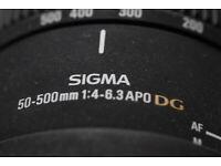 Sigma 50-500 1:4-6.3 APO DG EX Sony A mount
