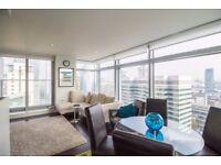 Huge 32nd floor 2 bed flat - VACANT now -Luxury Pan Peninsula Canary Wharf E14 + gym pool sauna! JS