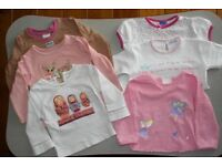 Bundle of 6 girls tops age 1 - 1,5 year