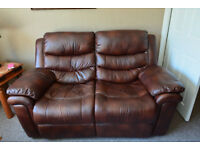 Used 2 seater reclining leather sofa, well looked after and clean, from a dog free home.