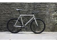Christmas sale!!! Steel Frame Single speed road bike track bike fixed gear racing fixie bicycle o