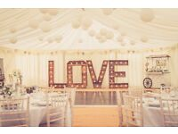 Bristol Wedding Prop Hire, 5ft LED LOVE Letters, Candy Cart, Cinema Light Box Vintage Rustic Timber!