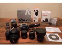 Pentax K-S2 + Lenses + Flash + Extras