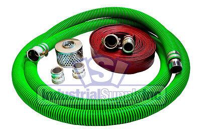 2 Epdm Trash Pump Suction Hose Camlock Kit W50 Red Usa Discharge Hose Fs
