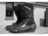 Trace motorcycle boots size 45 in very good condition