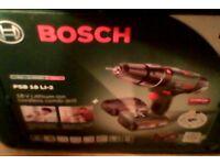 bosch psb l 1-2 cordlless drill new