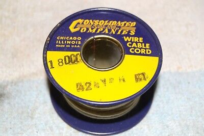 CONSOLIDATED WIRE CO NEW NOS 18DCC DOUBLE COVERED COPPER AWG 18 SPOOL 42 feet