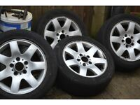 16INCH ALLOY RIMS WHEEL 5 STUD BMW GOOD CONDITION.