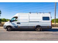 Iveco daily XLWB High top 35s18 camper van racevan 3.0ltr 176bhp 5 seats double bed MOT may 2019