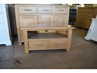 NEWARK OAK Corner TV Unit