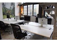 X2 White Double bank Office desks (164.5cm x 180cm Each)