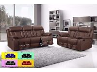 BRAND NEW RECLINER SOFA 3+2+1 IN BLACK AND BROWN COLOR !!!BEST BARGAIN EVER!!! FAST DELIVERY