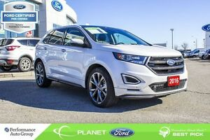 2016 Ford Edge Sport FORD CERTIFIED LOW RATES & EXTRA WARRANTY!