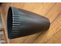 Black John Lewis Vase Excellent Condition Contemporary Modern Style 22cm high