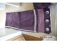 Purple curtains, very long length with eyelets