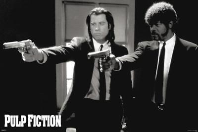 Pulp Fiction Guns John Travolta Samuel Jackson Tarantino Movie Poster   36X24
