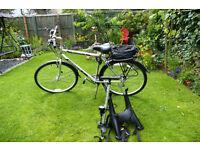 Ascot Ammaco Upright riding postion mens hybrid bike