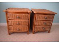 Rattan bedroom furniture.