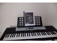 YAMAHA KEYBOARD with USER MANUAL,MUSiC HOLDER,Power cable,&adjustable stand